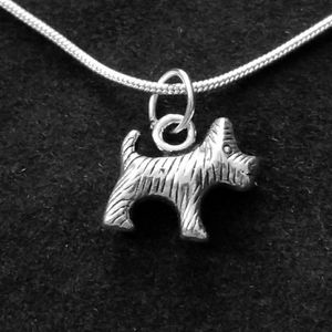 Scottie Dog .925 Sterling Silver Necklace